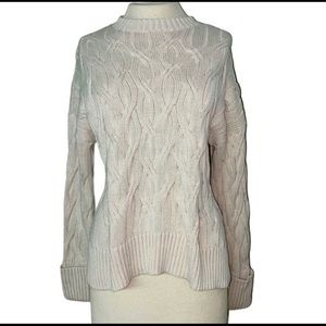 Prologue Small Chunky Knit Beige Sweater cotton